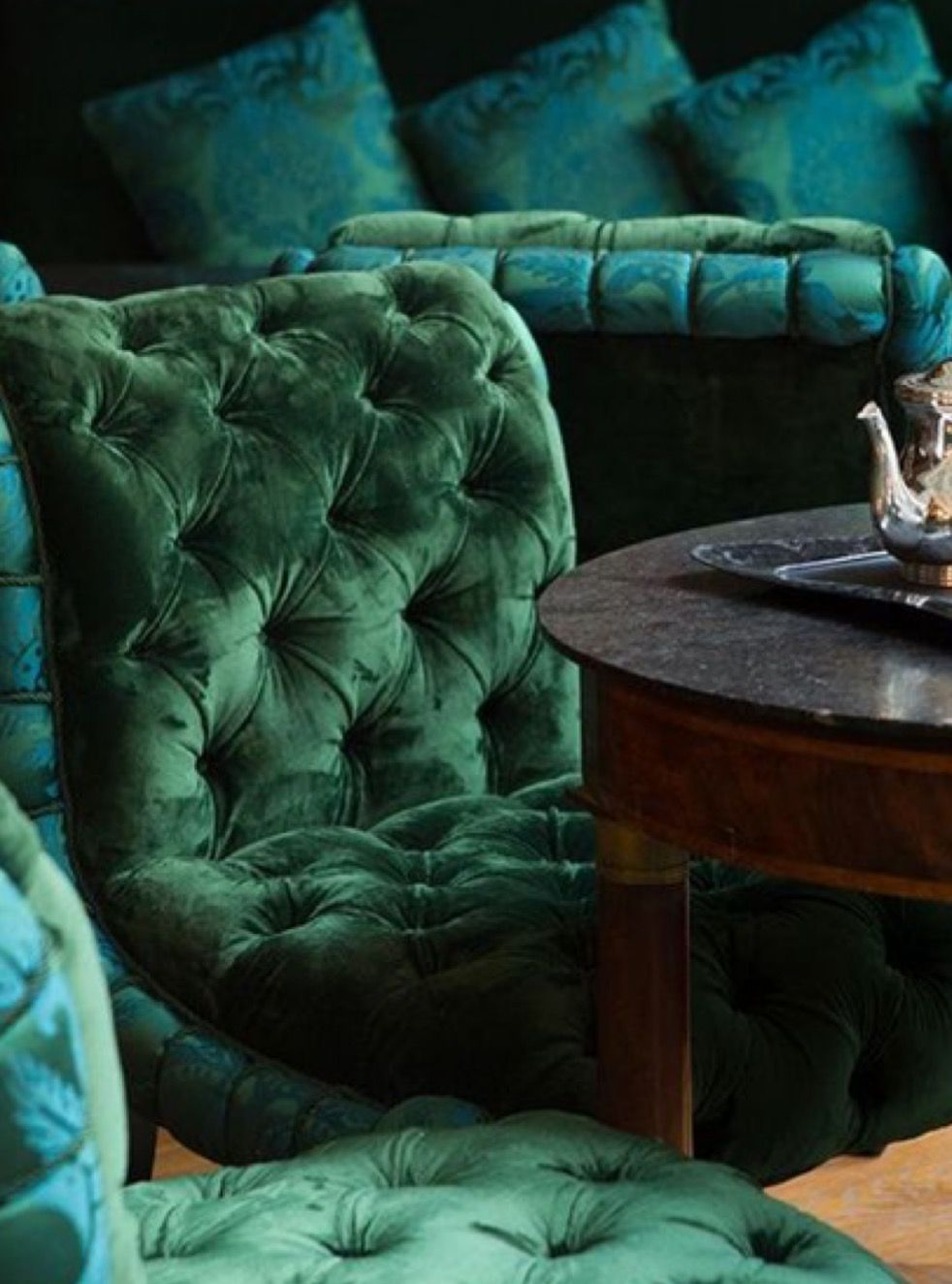 Pin By Ultruism On Uptown Jade S Penthouse Slytherin Aesthetic Green Rooms Shades Of Green