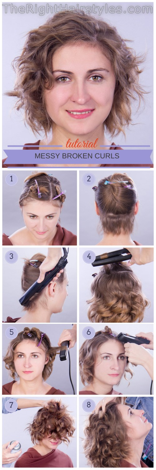 The Right Hairstyles For You Short Hair Tutorial Hair Tutorial Curly Hair Styles