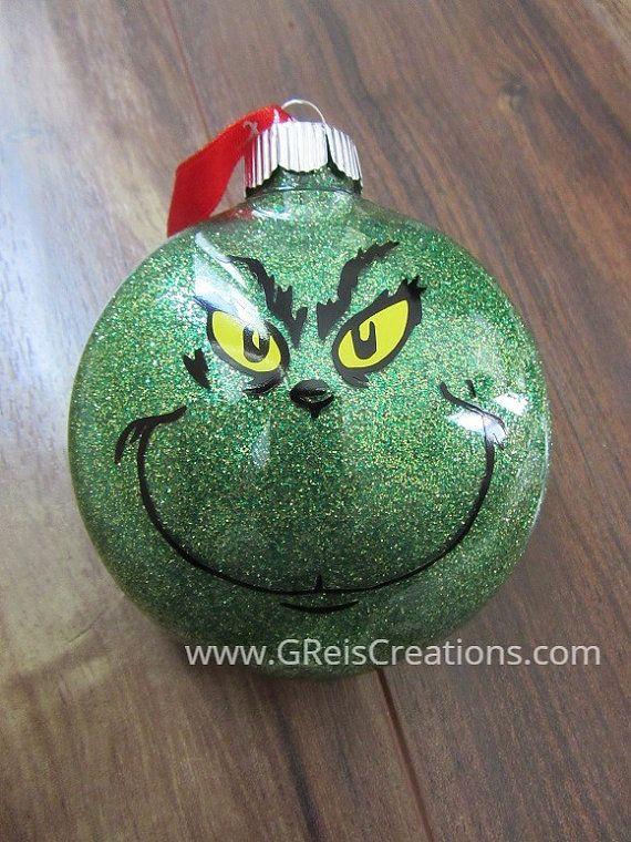 grinch christmas ornament merry grinchmas by greiscreations - Grinch Christmas Ornaments