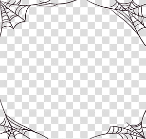 Spider Web Frame Spider Web Halloween All Saints Day Halloween Cobwebs Transparent Background Png Clipart Clip Art Cartoon Bubbles Balloon Illustration