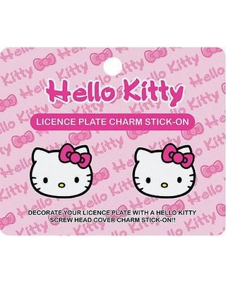 Hello Kitty License Plate Charm Stick-on Dimenssion: H 4 x L 1/2 x W 4-3/4