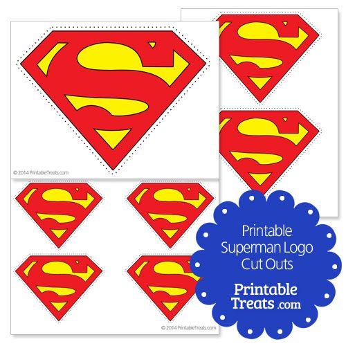 Printable Superman Logo Cut Outs | Superman Party Ideas