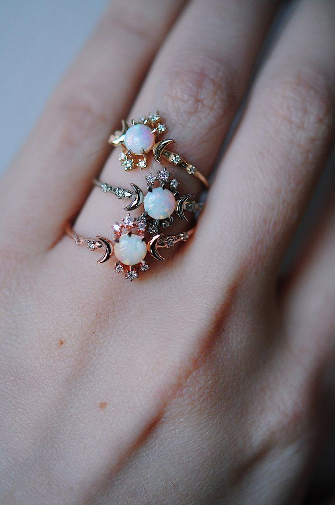 d0cb71841338e9 Opal Wandering Star Ring in 2019 | Jewelry | Rings, Star ring ...
