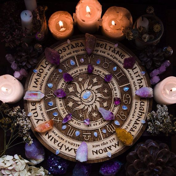 """Wiccan Wedding Altar: Etsycult: """" Wheel Of The Year By PandoraWitchShop"""