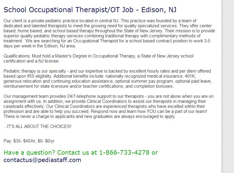 Occupational Therapist Job Description Manual Muscle Testing