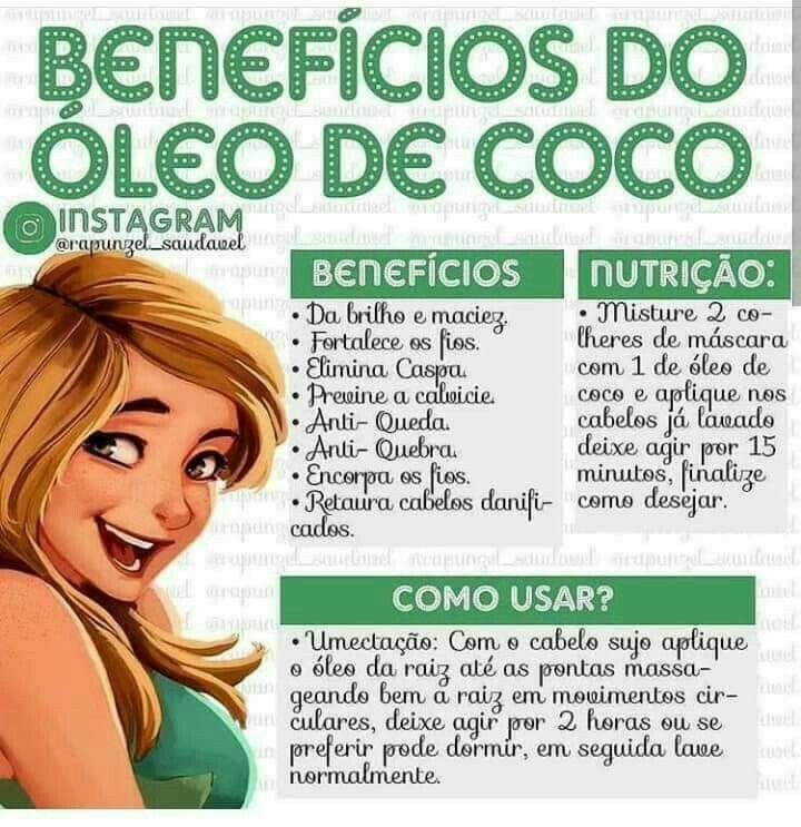 e9fcc7e9b Benefícios do Óleo de Coco para os Cabelos | Cuidado del cabello ...