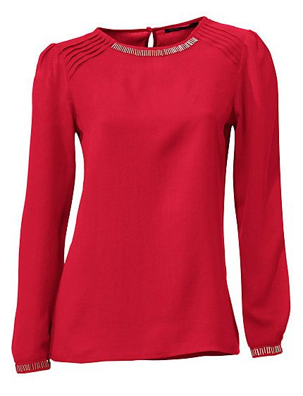 Ashley Brooke - Chiffon-Tunika rot im Heine Online-Shop kaufen