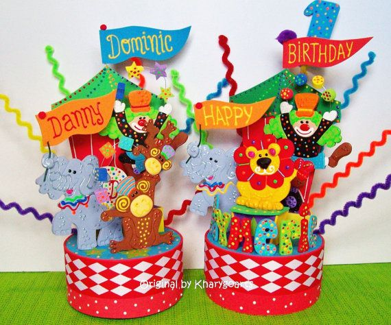 Carnival Circus Birthday Cake Topper The One On Right