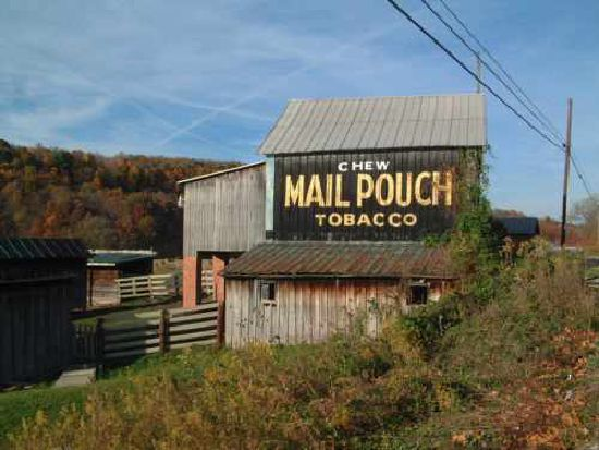 Mail Pouch Painted Barn Khedive Pa Farm Barn Old Barns