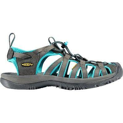 Keen Whisper Black Gargoyle Womens Slip-on Outdoor Strappy Sandals