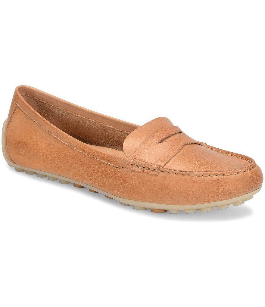 Born Malena Leather Slip-On Dress Penny Loafers