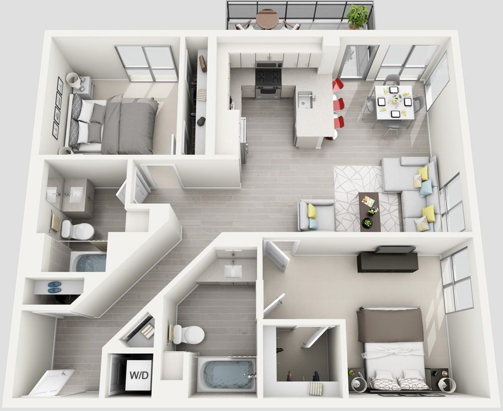 Angelene Luxury West Hollywood Apartment On La Brea Sims House Plans Sims House Design Apartment Floor Plans
