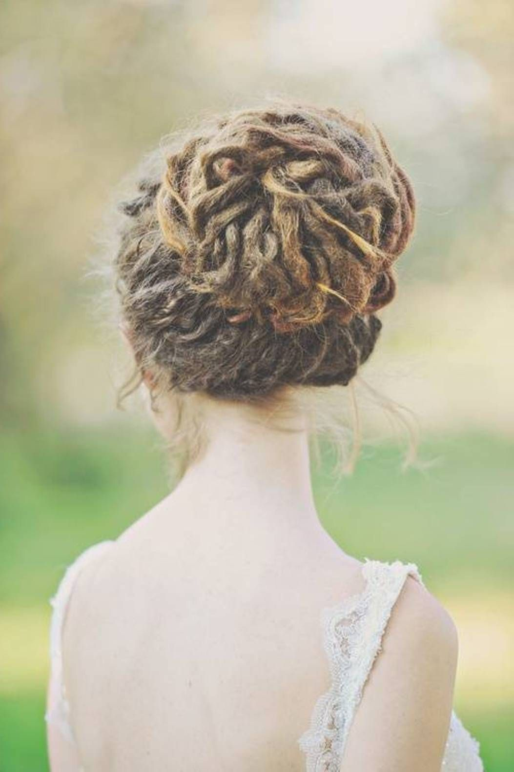 Pretty Bun Dreadlock Hairstyles Im Going To Have Add Some Longer Ones In Just For The Wedding