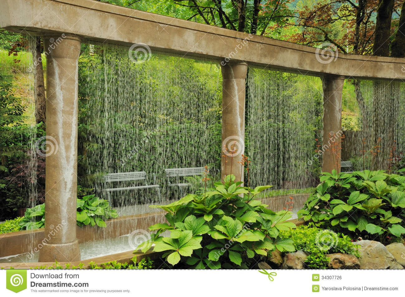 Merveilleux Decorative Water Wall In The Garden   Download From Over 28 Million High  Quality Stock Photos
