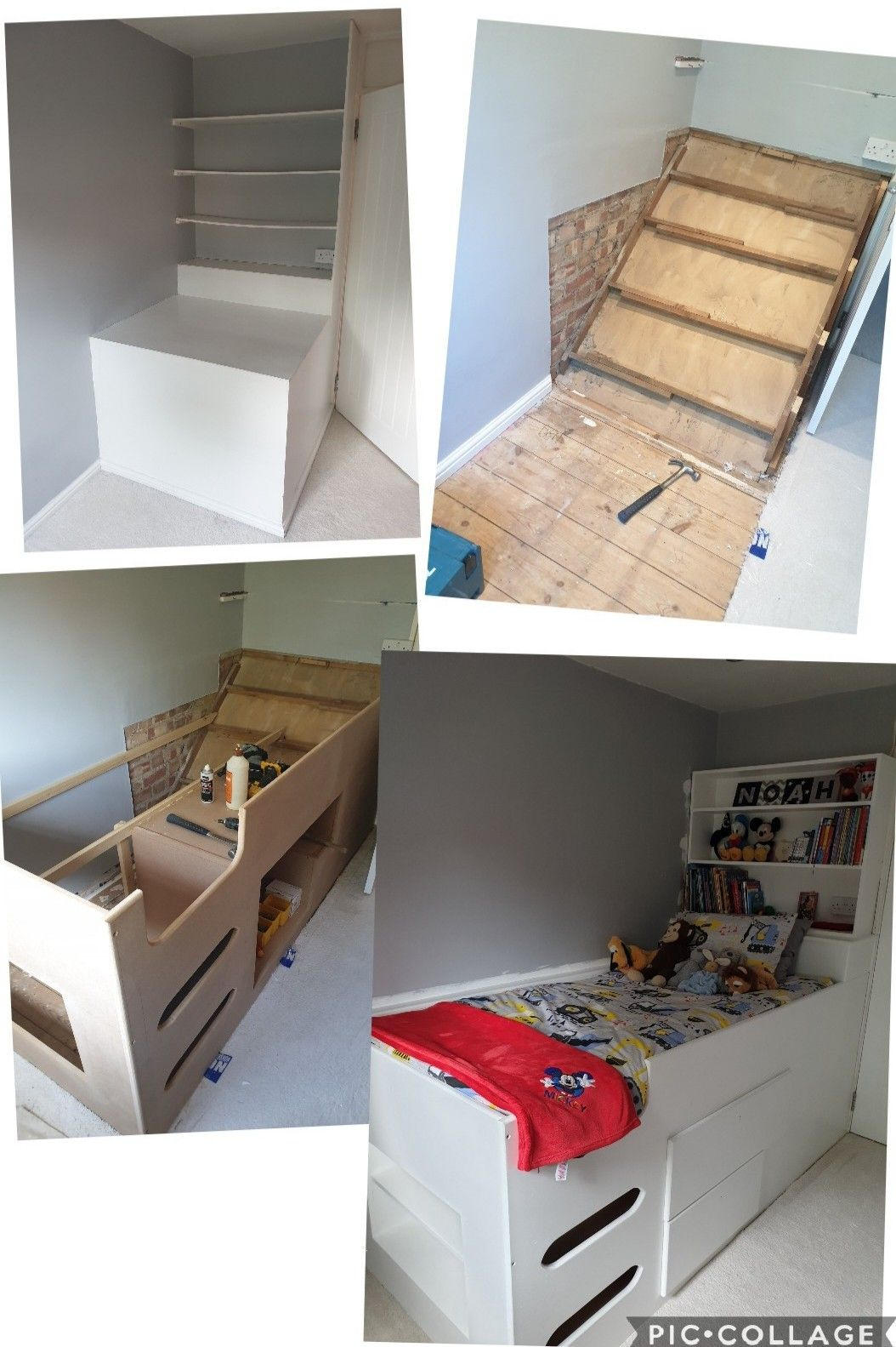 Bespoke Cabin Bed Over Stairs Bulkhead Child S Bed Kid S Bed Box Room Bedroom Box Room Bedroom Ideas Box Bedroom Stair Box In Bedroom