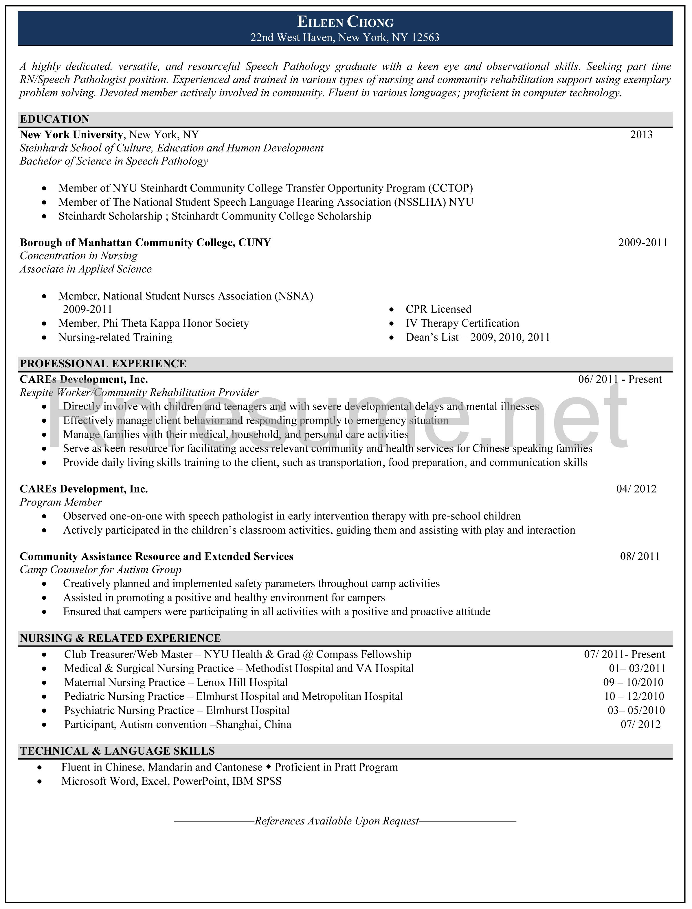 Nursing Resumes That Stand Out Rn Resume Sample Http Rnresume Check Our Rn