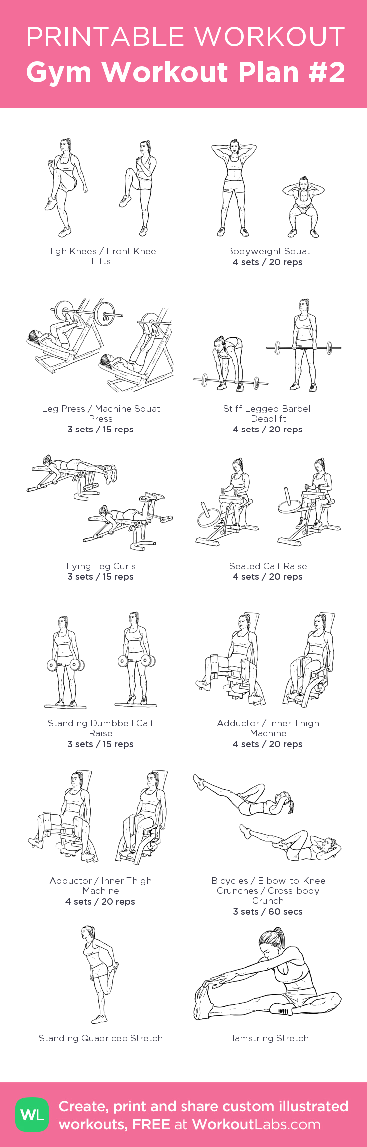 Gym Workout Plan 2 my visual workout created at