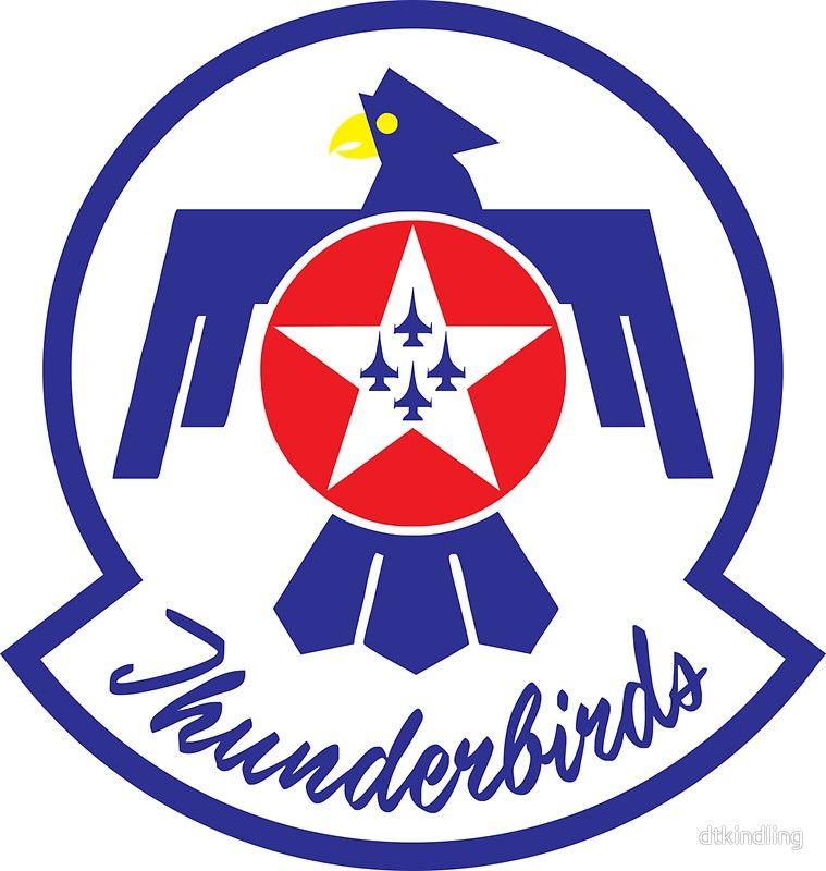 U S Air Force Thunderbirds Sticker By Dtkindling Usaf Thunderbirds Air Force Thunderbird