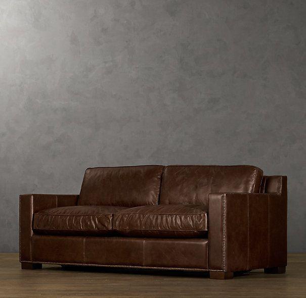 Decor Look Alikes | Restoration Hardware Collins Leather Sofa $2895 $4820  Vs $1240 @wayfair