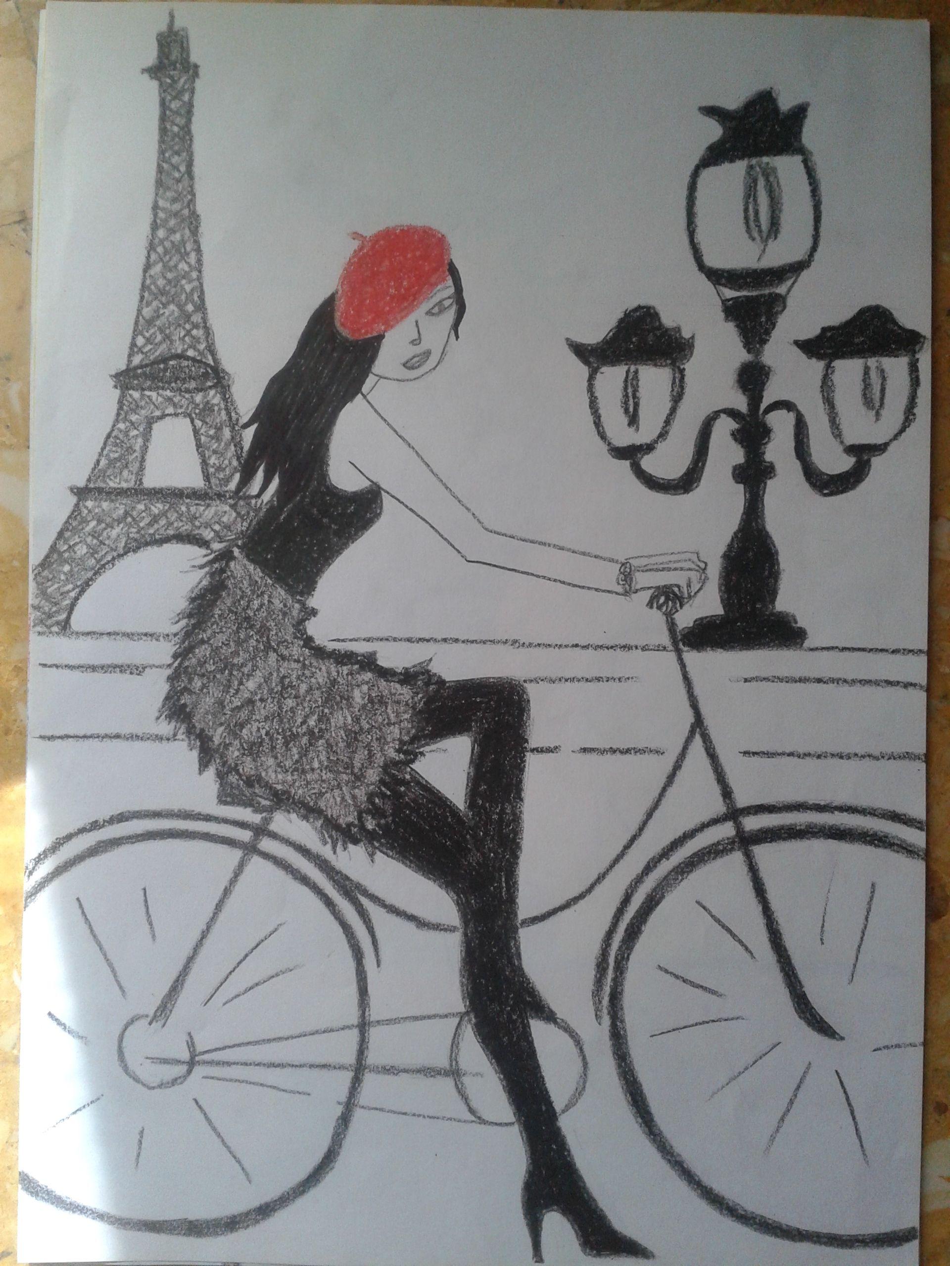 Chica parisina. Ceras.