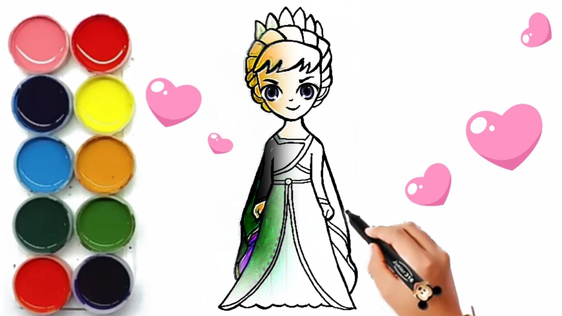 Menggambar Queen Anna Frozen 2 Mata Berkedip Menyenangkan Princess Cartoon Cartoon Drawings Cartoon Drawings Easy