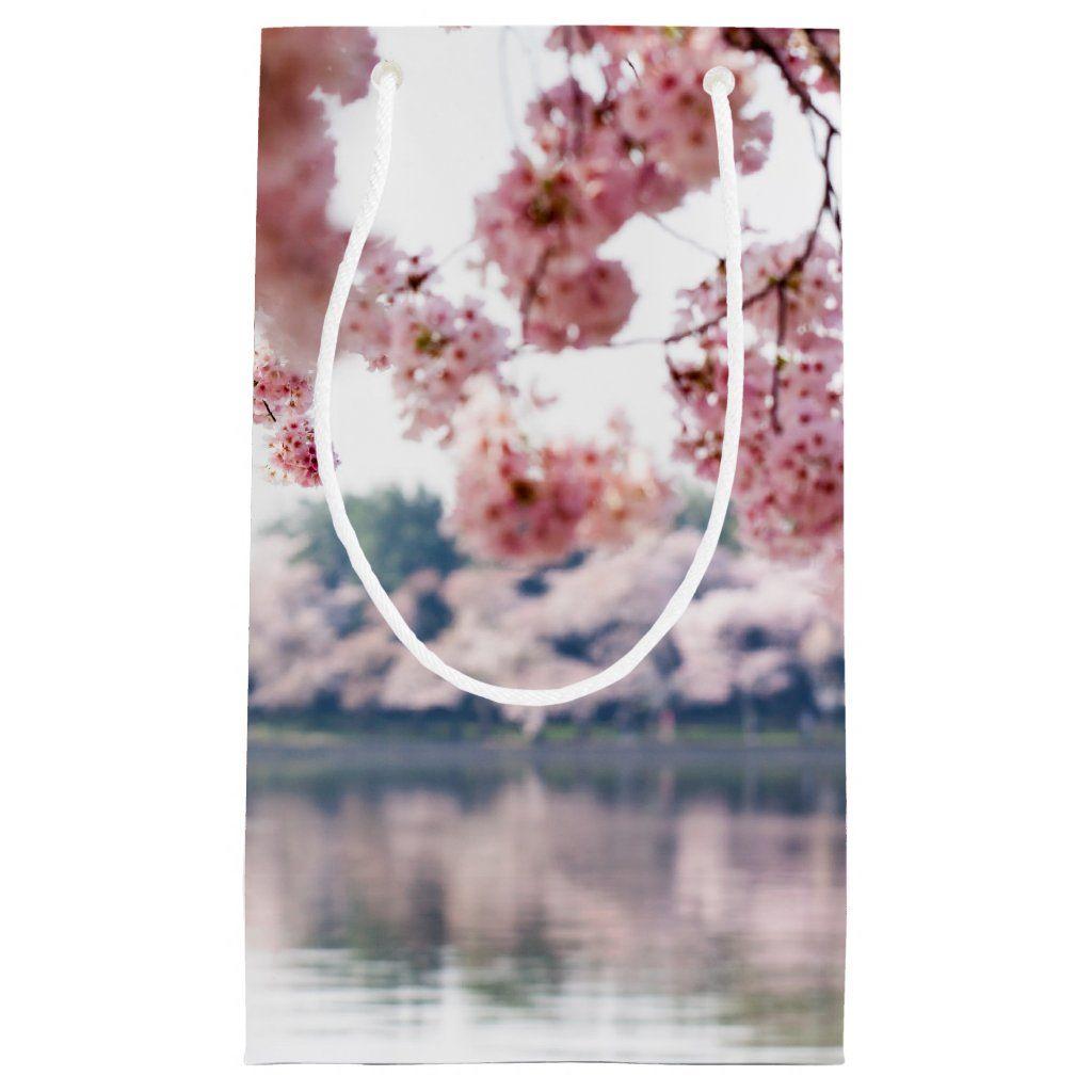 Cherry Blossoms Small Gift Bag Zazzle Com Small Gift Bags Small Gifts Cherry Blossom
