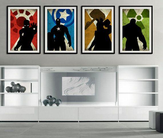 The 4 Avengers  Captain america Ironman Hulk by FashionArtStudio, $50.00