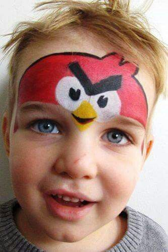 Angry bird face painting pinterest maquillaje for Angry bird mural