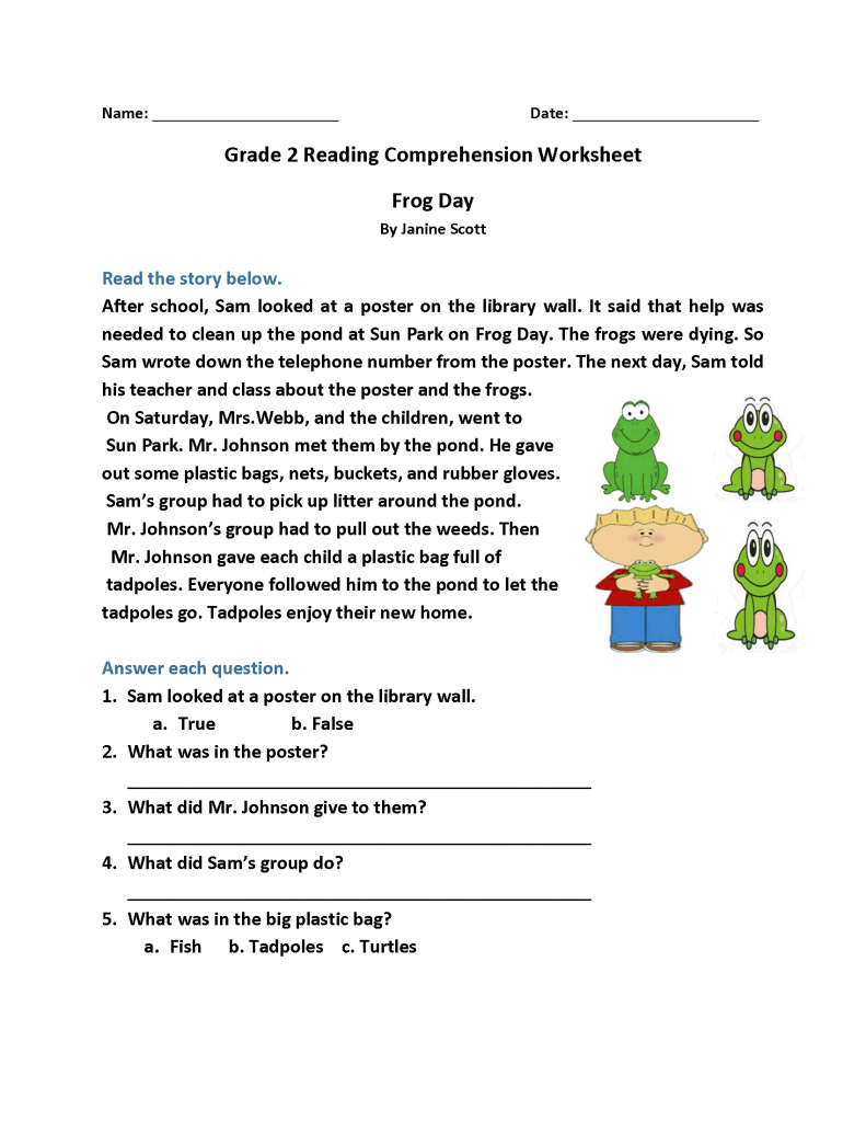 hight resolution of 2nd Grade Reading Worksheets - Best Coloring Pages For Kids   Reading  comprehension worksheets