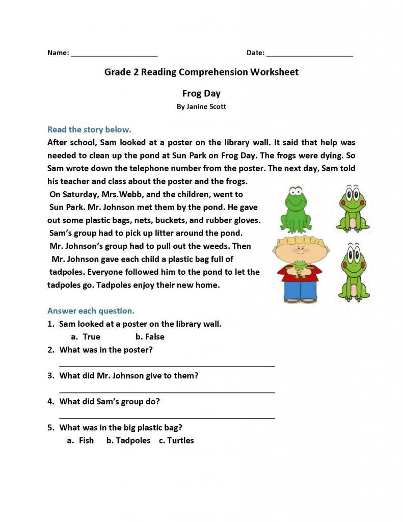 2nd Grade Reading Worksheets - Best Coloring Pages For Kids   Reading  comprehension worksheets [ 1024 x 791 Pixel ]