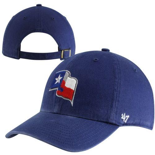 '47 Brand Texas Rangers Cleanup Adjustable Hat - Royal Blue