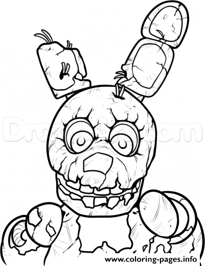Print 3 Nights At Freddys Five Five Nights At Freddys Fnaf Coloring