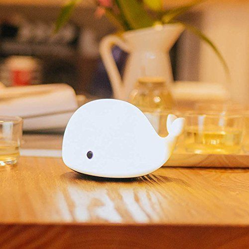 Grocery House Adorable Soft Silicone Dolphin Led Baby Children Night Light Lamp 6 Changeable Colors Usb Rechargeable Led Night Light Touch Lamp Night Light