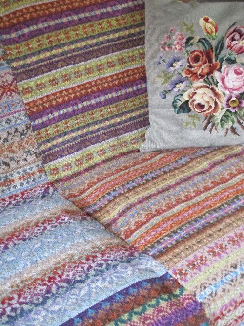 Marie Wallin Fair Isle Club Blanket Kit (yarn only) | Kindakirjad ...
