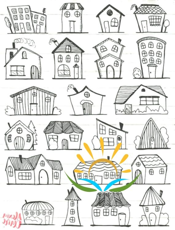 Doodle House Clipart House Vector Art Home House City Town House Png Home Vecto House Illustration House Clipart House Vector