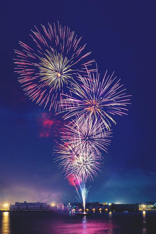 Fireworks in Yokohama, Kanagawa, Japan