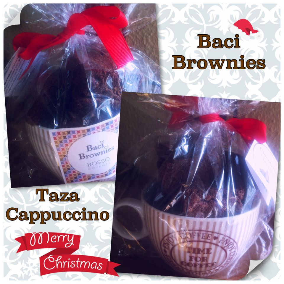 Baci Brownies en taza de Cappuccino