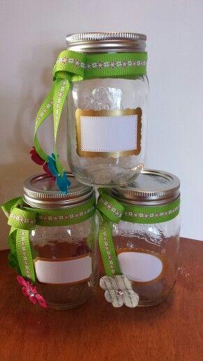 Mason Jars I Made For Family Reunion Crafts With Glass Jars Family Reunion Jar Crafts
