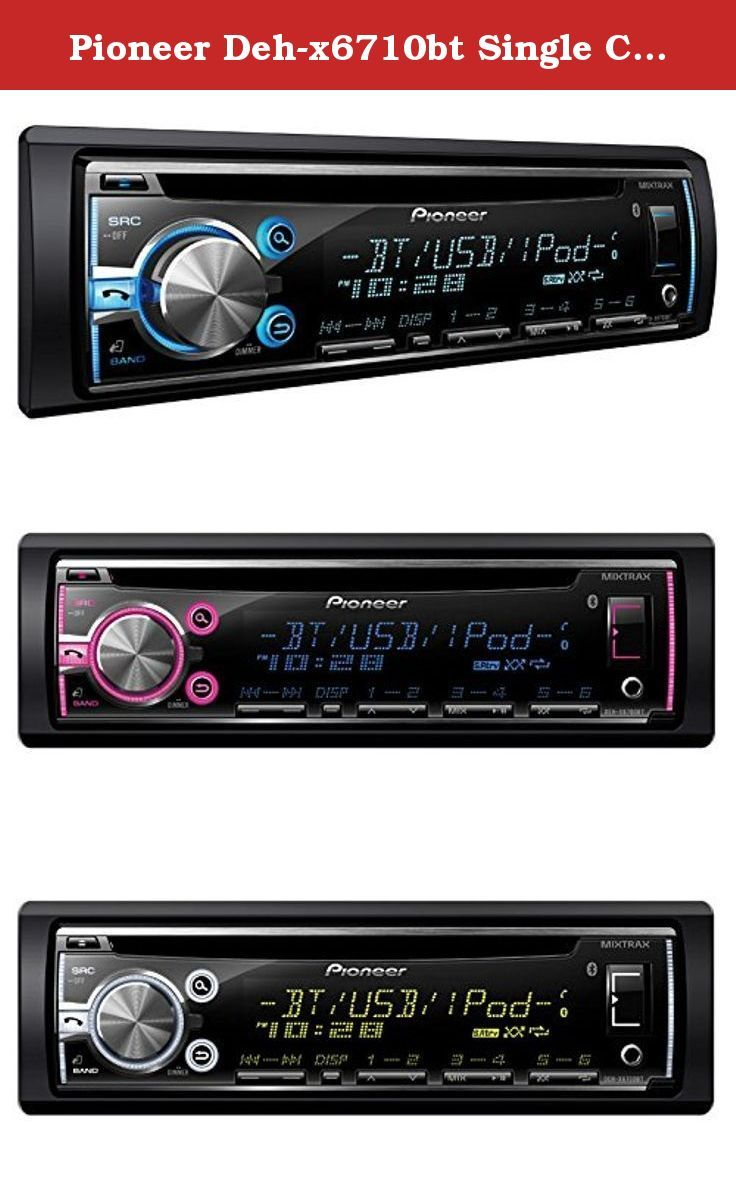 hight resolution of pioneer deh x6710bt single cd receiver with built in bluetooth multi line