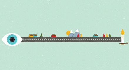 Hvor langt kan et øye se? Ta vare på synet ditt. Illustrasjon: The Project Twins for Synsam Norge