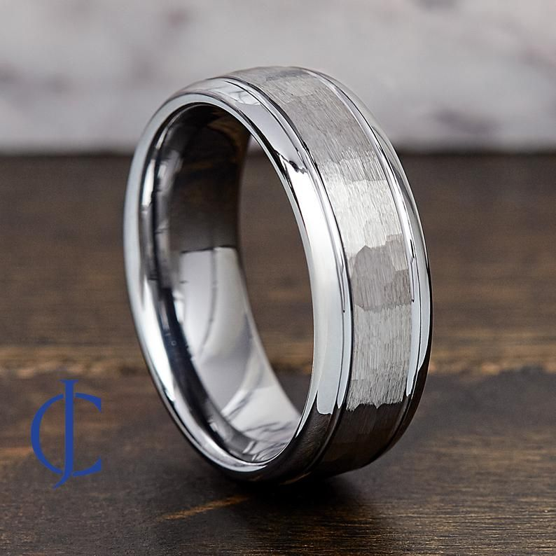 Mens Tungsten Wedding Band Tungsten Ring Mens Wedding Ring Etsy In 2020 Mens Wedding Bands Tungsten Etsy Wedding Rings Promise Rings For Guys