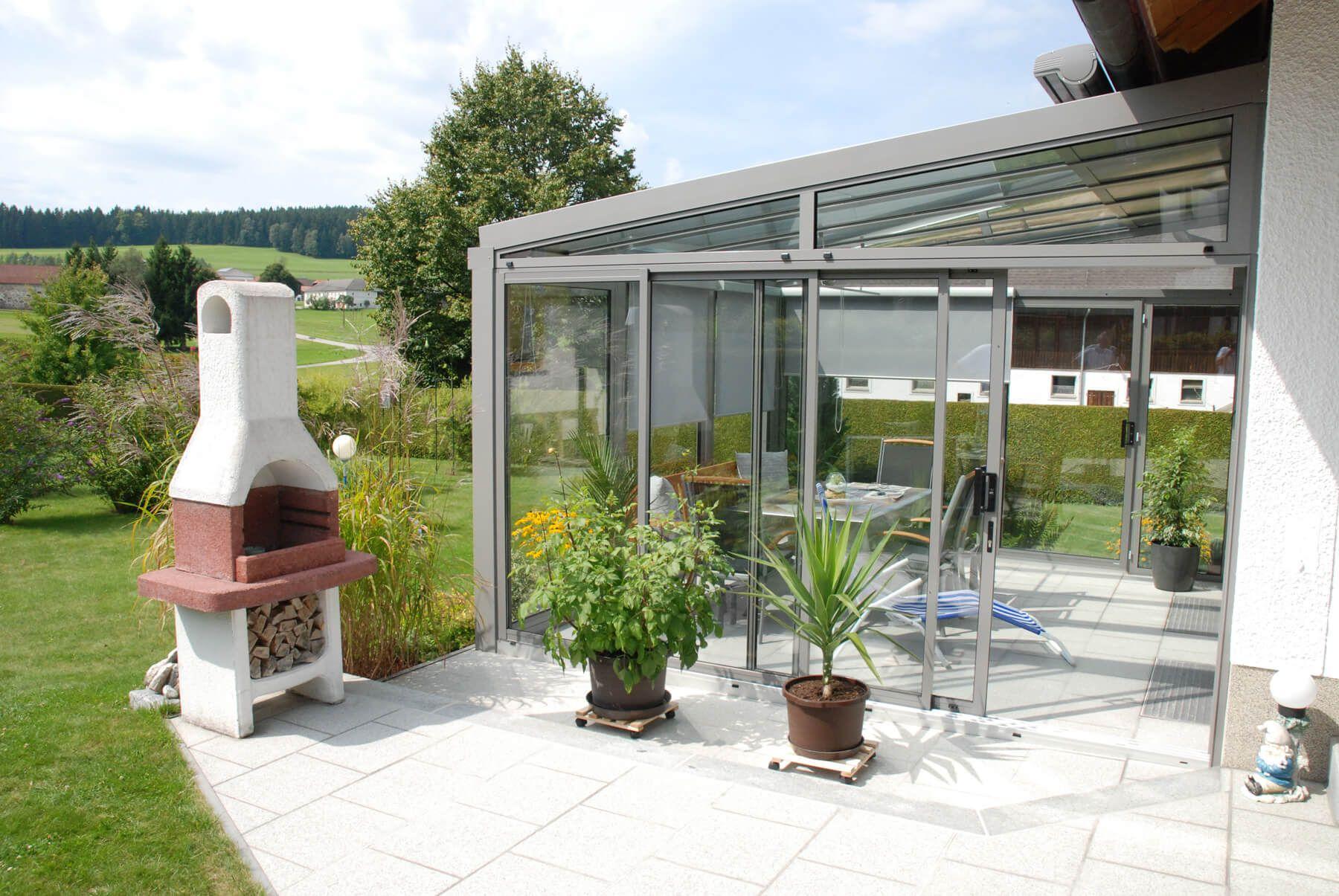 Wintergarten mit flexibler Schiebelösung von Neher