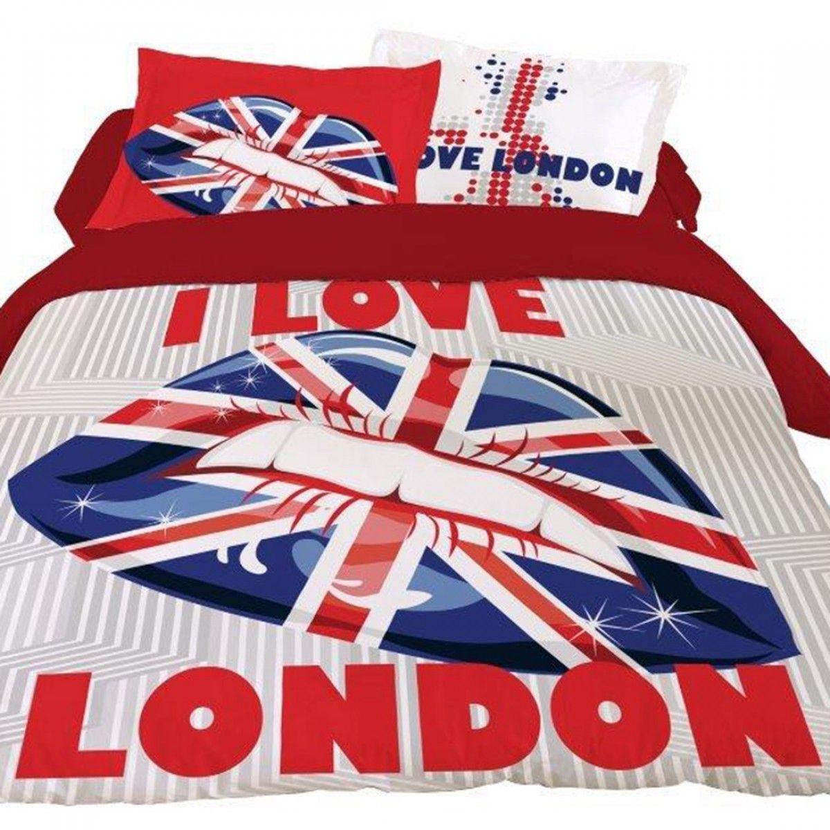 Housse De Couette 220x240 London Lips Avec Images Housse De Couette London Housse De Couette Housse De Couette 220x240