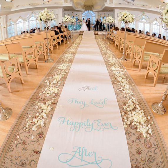 An aisle runner is a perfect way to customize your walk ...