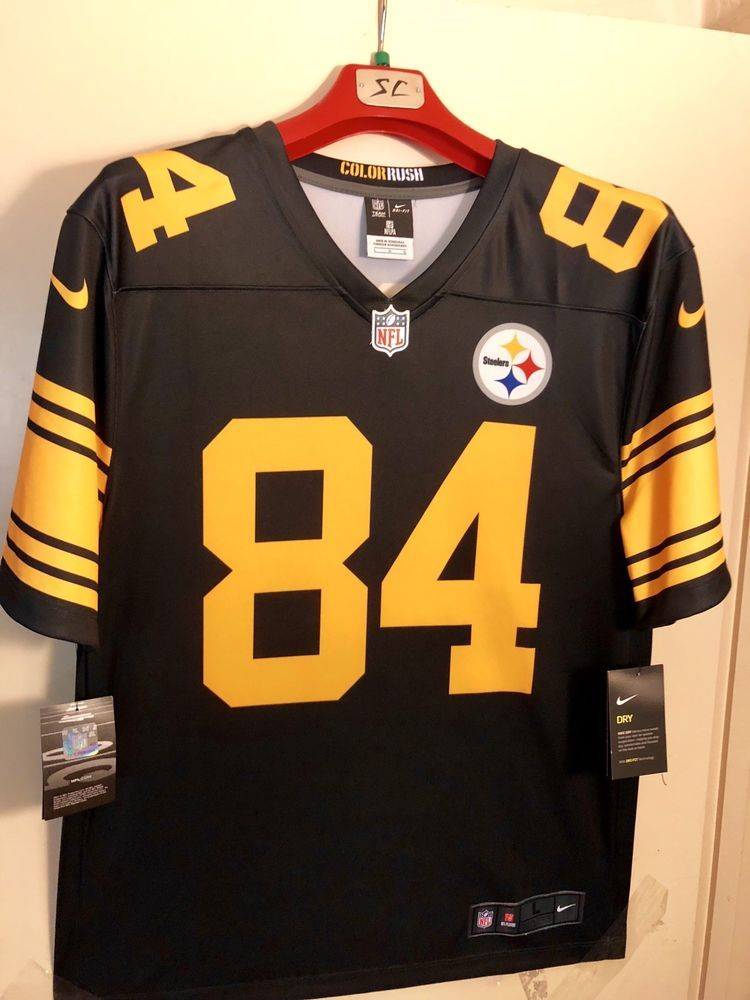 158dd78fb66 ... new zealand nike nwt nfl pittsburgh steelers color rush mens jersey  antonio brown large 65.00 end ...