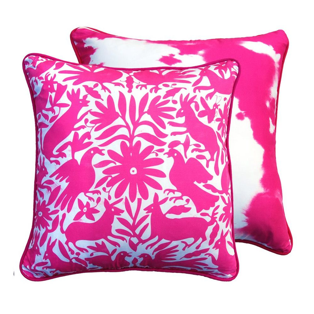 Mexican otomi pink cushion cover x cm by urban road on pop