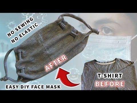 Photo of DIY Face Mask | Easy DIY Face Mask with T-shirt | No Sewing – No Elastic