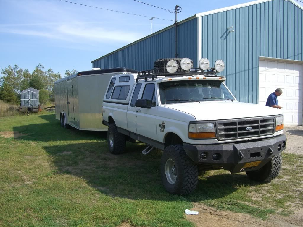96 f350 dually crew cab roof rack | Ranch Hand bumper pics ...