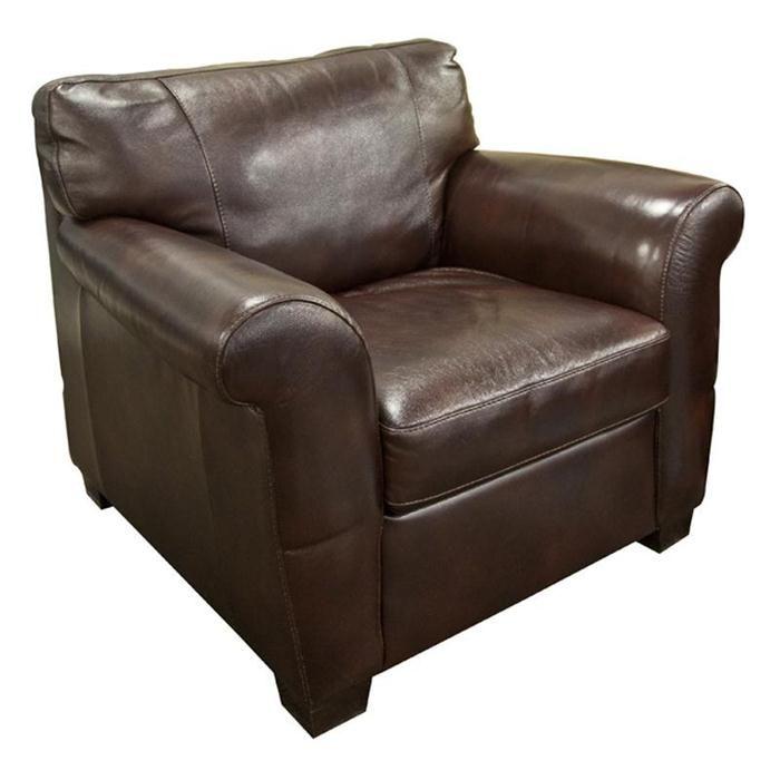 Nebraska Furniture Mart – Natuzzi Editions Brown Leather Arm Chair $809.99