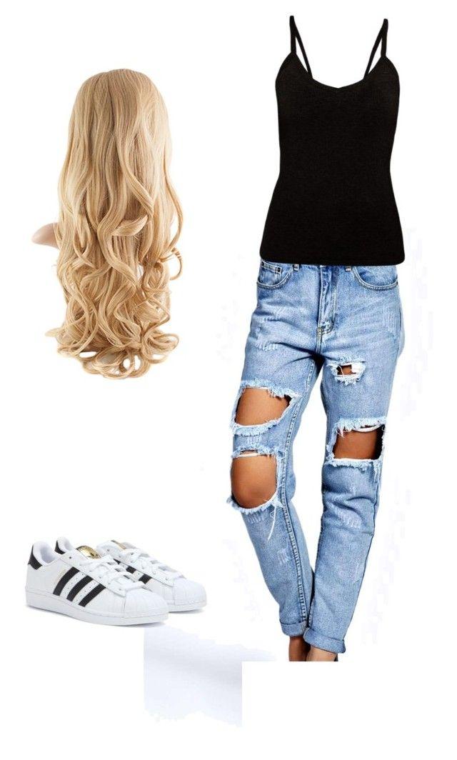 """""""Style"""" by milenadangelo on Polyvore featuring moda, Boohoo y adidas"""